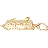 Gold Plate Cruise Ship Charm by Rembrandt Charms