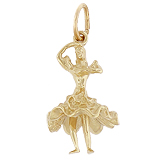 10K Gold Flamenco Dancer Charm by Rembrandt Charms