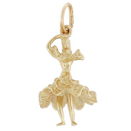 14K Gold Spanish Dancer Charm by Rembrandt Charms