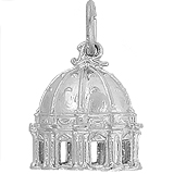 14k White Gold St Peter's Basilica Charm by Rembrandt Charms