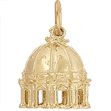 Gold Plated St Peter's Basilica Charm by Rembrandt Charms