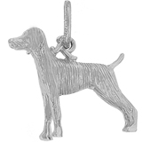Sterling Silver Weimaraner Dog Charm by Rembrandt Charms