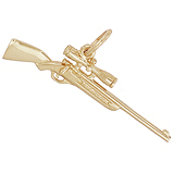 Gold Plated Shotgun with Scope Charm by Rembrandt Charms