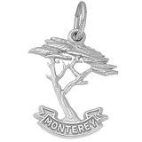 14K White Gold Monterey Cypress Charm by Rembrandt Charms