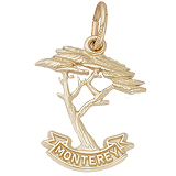 Gold Plated Monterey Cypress Charm by Rembrandt Charms