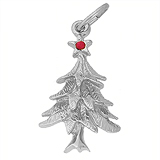 14K White Gold Christmas Tree Charm by Rembrandt Charms