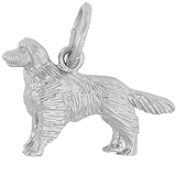 Sterling Silver Golden Retriever Charm by Rembrandt Charms