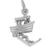 14K White Gold Noah's Ark Charm by Rembrandt Charms