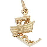 Gold Plate Noah's Ark Charm by Rembrandt Charms