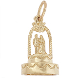 Gold Plated Cake for Weddings Charm by Rembrandt Charms