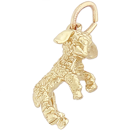 14k Gold Lamb Charm by Rembrandt Charms