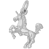 14K White Gold Unicorn Charm by Rembrandt Charms