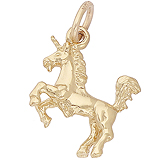 Gold Plated Unicorn Charm by Rembrandt Charms