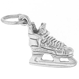 14K White Gold Ice Hockey Skate Charm by Rembrandt Charms