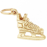 Gold Plated Ice Hockey Skate Charm by Rembrandt Charms