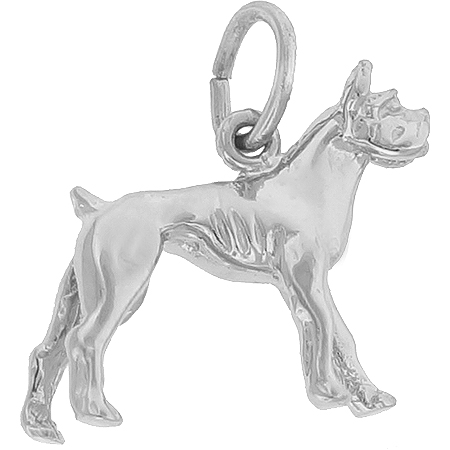 Sterling Silver Boxer Dog Charm by Rembrandt Charms