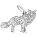 14K White Gold Fox Charm by Rembrandt Charms