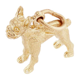 Gold Plate Boston Terrier Charm by Rembrandt Charms