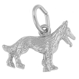 14K White Gold German Shepherd Dog Charm by Rembrandt Charms