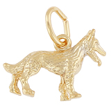 10K Gold German Shepherd Dog Charm by Rembrandt Charms