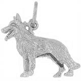 14k White Gold German Shepherd Charm by Rembrandt Charms