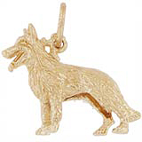 Gold Plated German Shepherd Charm by Rembrandt Charms