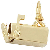 Gold Plate Mailbox Charm by Rembrandt Charms