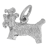 Sterling Silver Yorkshire Dog Charm by Rembrandt Charms