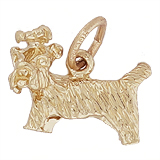 Gold Plate Yorkshire Terrier Dog Charm by Rembrandt Charms