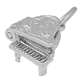 Sterling Silver Piano Accent Charm by Rembrandt Charms