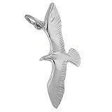 14K White Gold Seagull Bird Charm by Rembrandt Charms