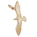 14K Gold Seagull Bird Charm by Rembrandt Charms
