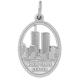 14K White Gold World Trade Center 9-11 Charm by Rembrandt Charms