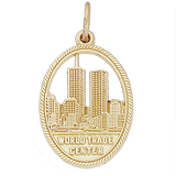 Gold Plated World Trade Center 9-11 Charm by Rembrandt Charms