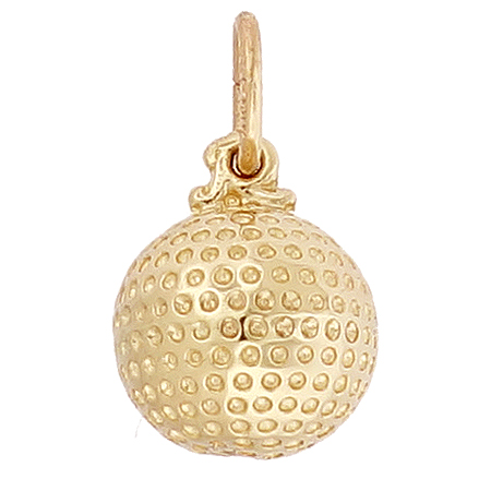 14k Gold Golf Ball Charm by Rembrandt Charms