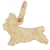Gold Plated Terrier Dog Charm by Rembrandt Charms