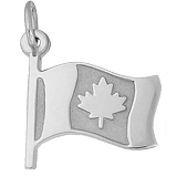 14K White Gold Canadian Flag Charm by Rembrandt Charms