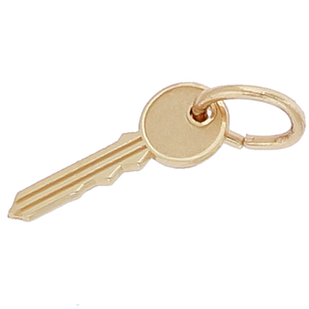 14K Gold House Key Accent Charm by Rembrandt Charms
