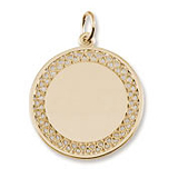 10k Gold Medium Filigree Disc Charm by Rembrandt Charms
