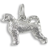 14K White Gold Portuguese Water Dog Charm by Rembrandt Charms