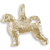 Gold Plate Portuguese Water Dog Charm by Rembrandt Charms