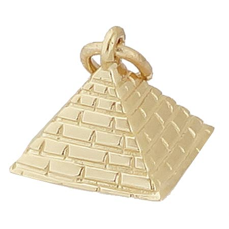 14K Gold Pyramid Charm by Rembrandt Charms