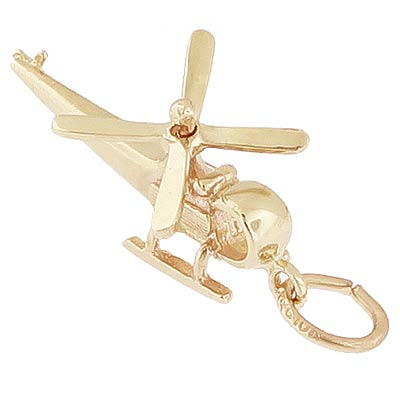 10K Gold Helicopter Charm by Rembrandt Charms