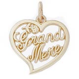 14k Gold Grand Mere, Grandmother Charm by Rembrandt Charms