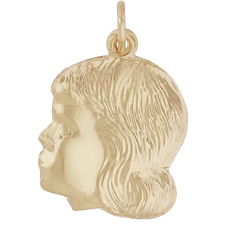 10K Gold Young Girl's Head Charm by Rembrandt Charms