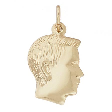 Gold Plate Boy's Head Charm by Rembrandt Charms
