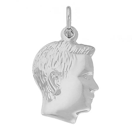 Sterling Silver Boy's Head Charm by Rembrandt Charms