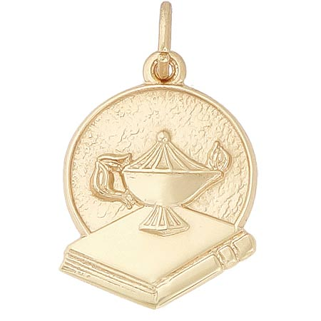 Gold Plate Graduation Charm by Rembrandt Charms