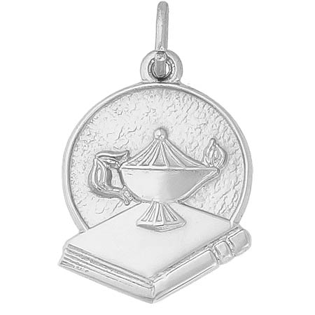 14k White Gold Graduation Charm by Rembrandt Charms