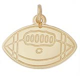 Gold Plated College Football Charm by Rembrandt Charms